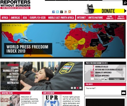world press freedom index 2013 - reporters without borders