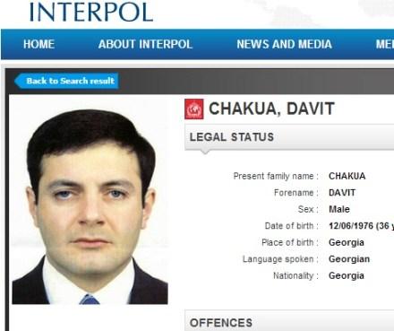 davit chakua - interpol notice