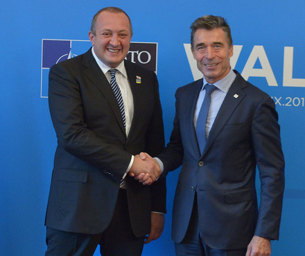 Bilateral meeting with the President of Georgia - NATO Wales Summit