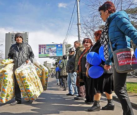 Anti-Gazprom Demonstration in Tbilisi March, 2016 (DFWatch)