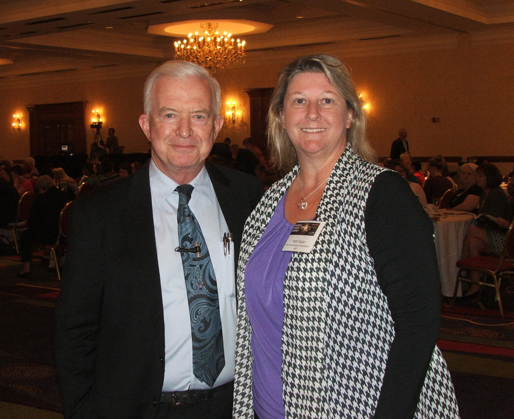 John Nance (l to r) and the Foundation's Director of Quality and Patient Safety Patti Taylor.