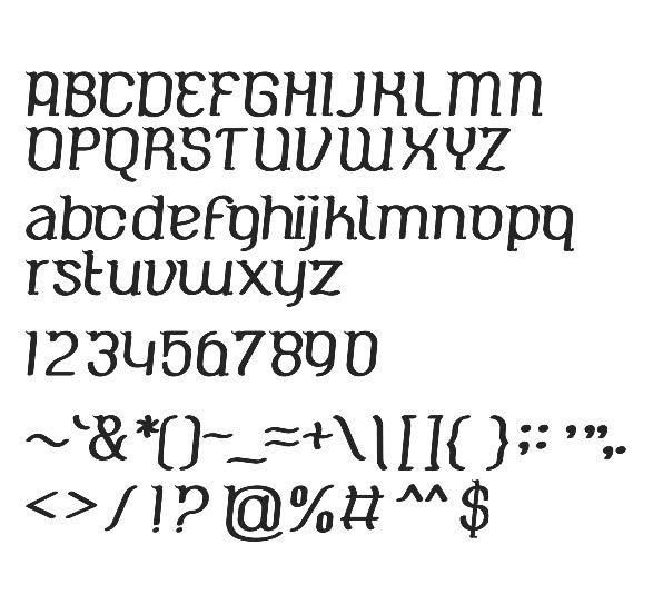 """Typeface """"Nusantara"""" versi Reguler (Sumber: Tugas Akhir Prima"""