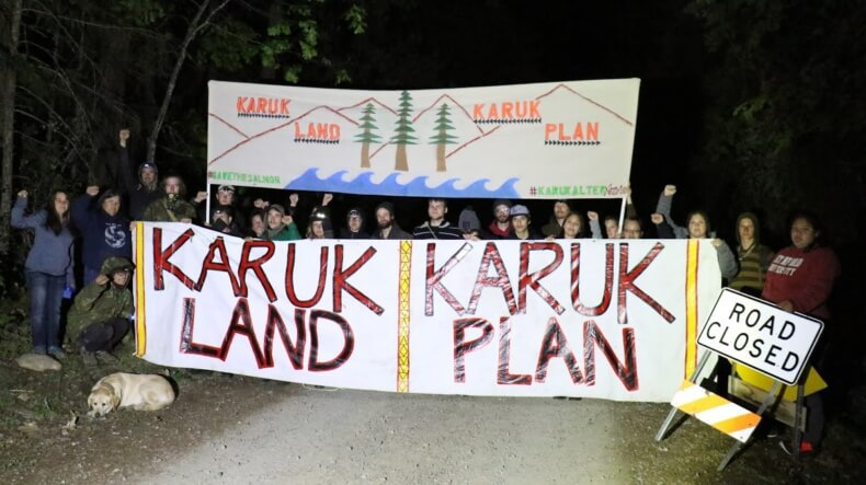 Blockade Disrupts Klamath Salvage Logging