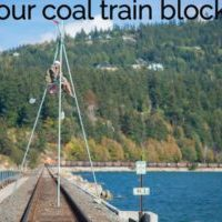 Activists stage coal-train blockade in Bellingham; train stopped for 12 hours