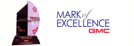 Awards and Accolades Broken Arrow   Ferguson Superstore 2014 GMC Mark of Excellence