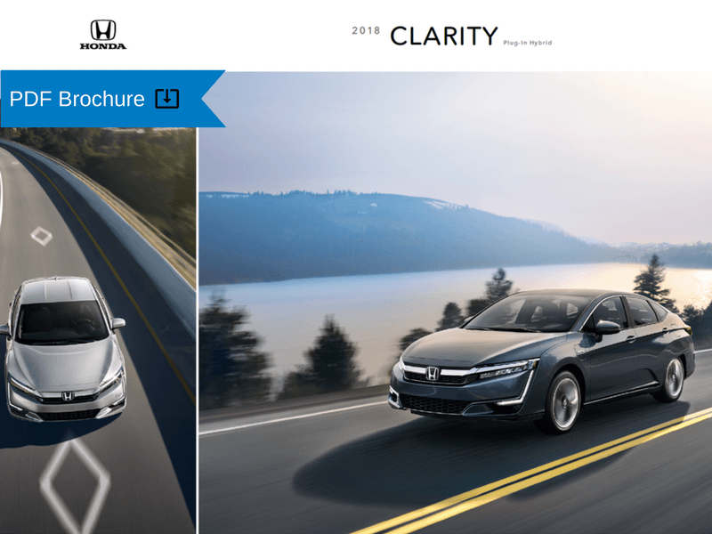 2019  2018 Honda Brochures   Patty Peck Honda Research 2018 Honda Clarity Plug In Hybrid Brochure img