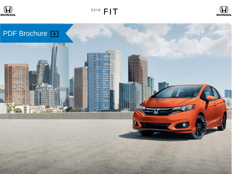 2019  2018 Honda Brochures   Patty Peck Honda Research 2018 Honda Fit Brochure img
