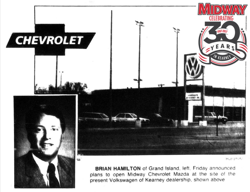 Throwback to 1987  Kearney Gets Chevy Dealer   Midway Auto Dealerships Kearney gets Chevy dealer