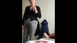my step aunt I jerk in front of her
