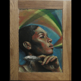 Mbaba, 17.75×23.25″, 2015 (SOLD)