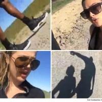 Lamar Odom joins Khloe and Kim Kardashian on a hike (Photos)