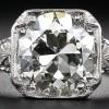 3.26 carat antique diamond engagement ring.