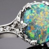 Tiffany and Co black opal and diamond ring.