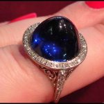 Sneak favorite: Edwardian cabochon sapphire and diamond ring.