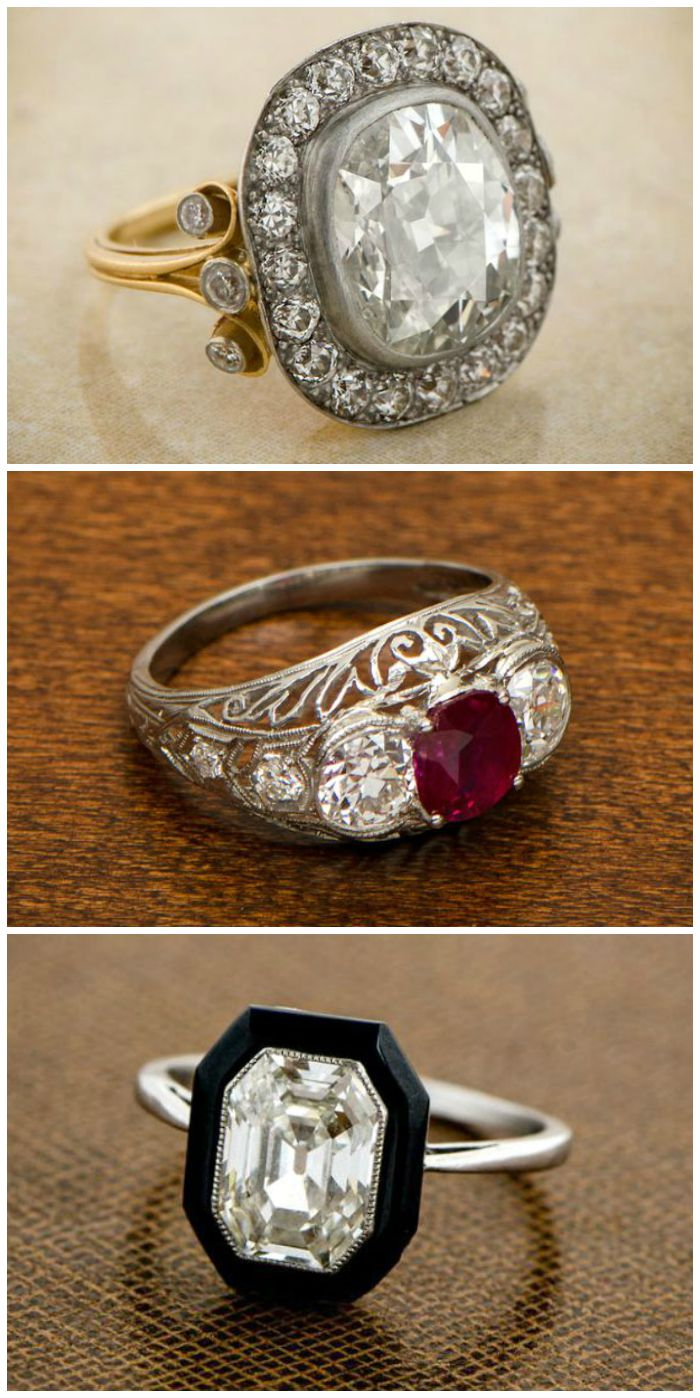 antique engagement rings from estate jewelry