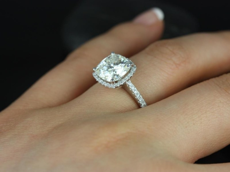 Large Of Cushion Cut Engagement Rings