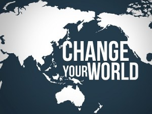 Be the one to change the world.