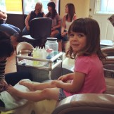 Getting our toes done pre-wedding