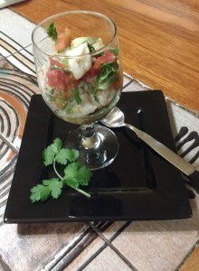 Finished ceviche