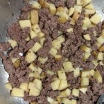 Ground beef with potatoes