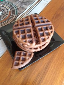 Finished chocolate waffles