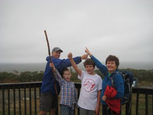 We made it, Sea-to-Summit, a great five-mile hike.