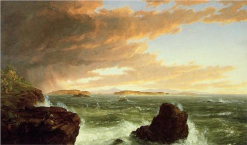 """Thomas Cole's """"View Across Frenchman's Bay after a Squall"""" (1845).  Cincinnati Art Museum."""