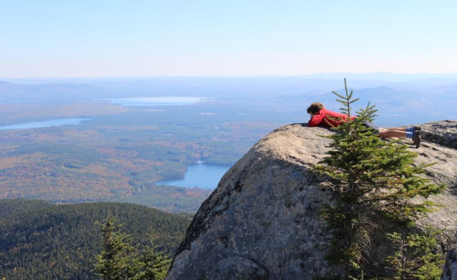 From a ledge near the summit, looking out over Lake Chocorua and several others.
