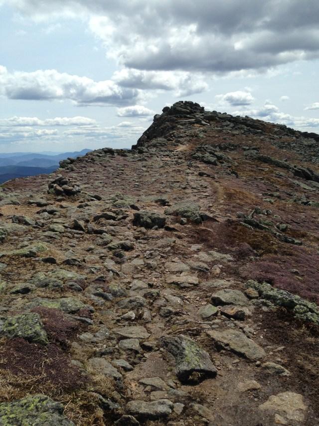 The rocky heap of Mount Monroe