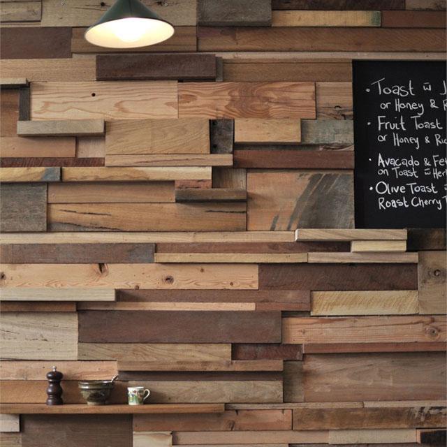 Ideas para decorar revestimientos para paredes - Reclaimed wood for interior walls ...