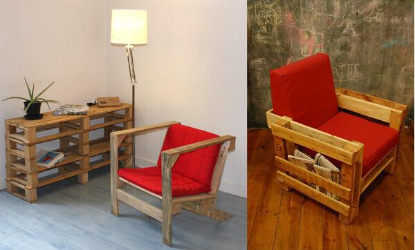 Muebles con palets 70 ideas creativas diario artesanal - Hacer sillones con palets ...