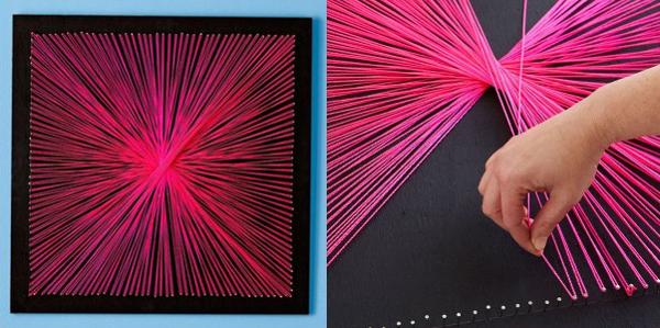 Cuadros de hilo tutoriales string art diario artesanal - Como hacer cuadros faciles en casa ...