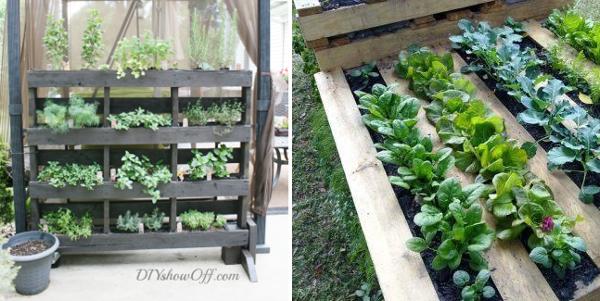 Huerta en casa ideas artesanales para el huerto peque o for Cosas con palets para el jardin
