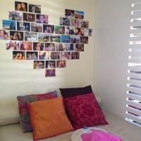 Decoração: Coração com fotos na parede