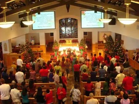 Las misas de aguinaldo o gallo, reúnen a familiares y amigos en las iglesias