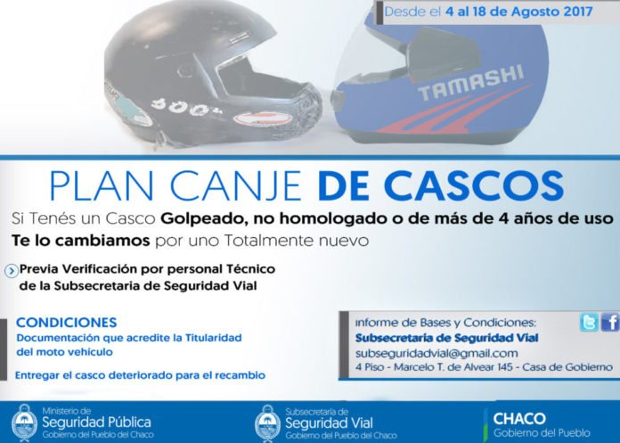 Implementan Plan Canje de Cascos destinado a motociclistas y acompañantes