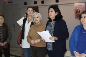REINOSO DURANTE EL ACTO INAUGURAL EXPOSICION 17 PINTURA