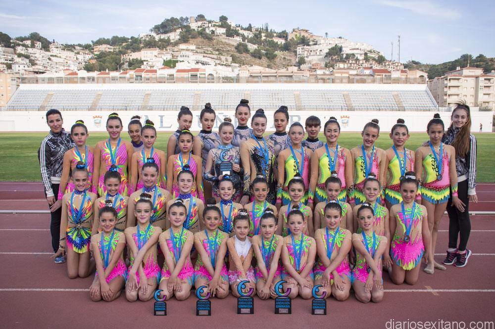 La Escuela de Gimnasia Rítmica de Almuñécar hizo un destacado papel en la Fase Oriental del Campeonato de Andalucía.