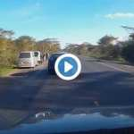 VIDEO:Highway Robbers  'Fake Accident' Caught on Camera