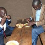 PHOTOS: Ruto Copies Uhuru,Enjoys Lunch in Mud Hotel