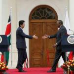 Japan's PM gets 19-gun salute, assures Kenya more support