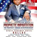 DALLAS-USA PROPHETIC IMPARTATION WITH PROPHET SHEPHERD BUSHIRI