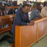 Uhuru attends Sunday service urges Kenyans to pray and maintain peace, unity