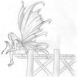 dibujos a lapiz de angeles (3)