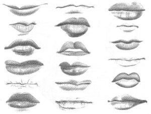 dibujos a lapiz de labios (9)