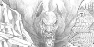 Dibujos a lapiz de hombre lobos (3)