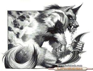 Dibujos a lapiz de hombre lobos (5)