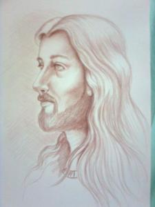 dibujos a lapiz de cristo (1)