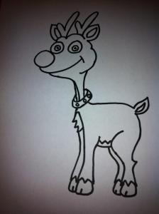dibujos a lapiz de renos (2)