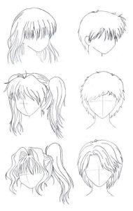 Dibujos a lápiz Animé (13)